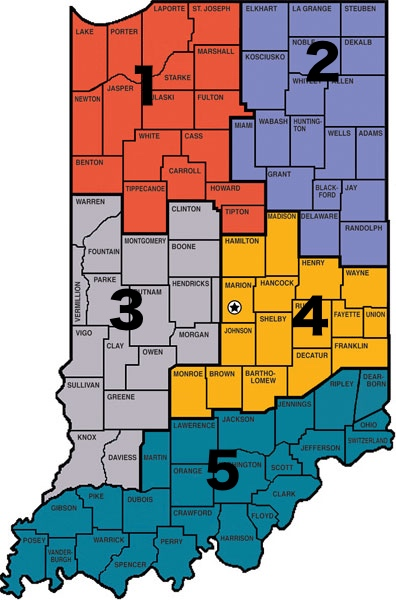 Indiana Sales Map